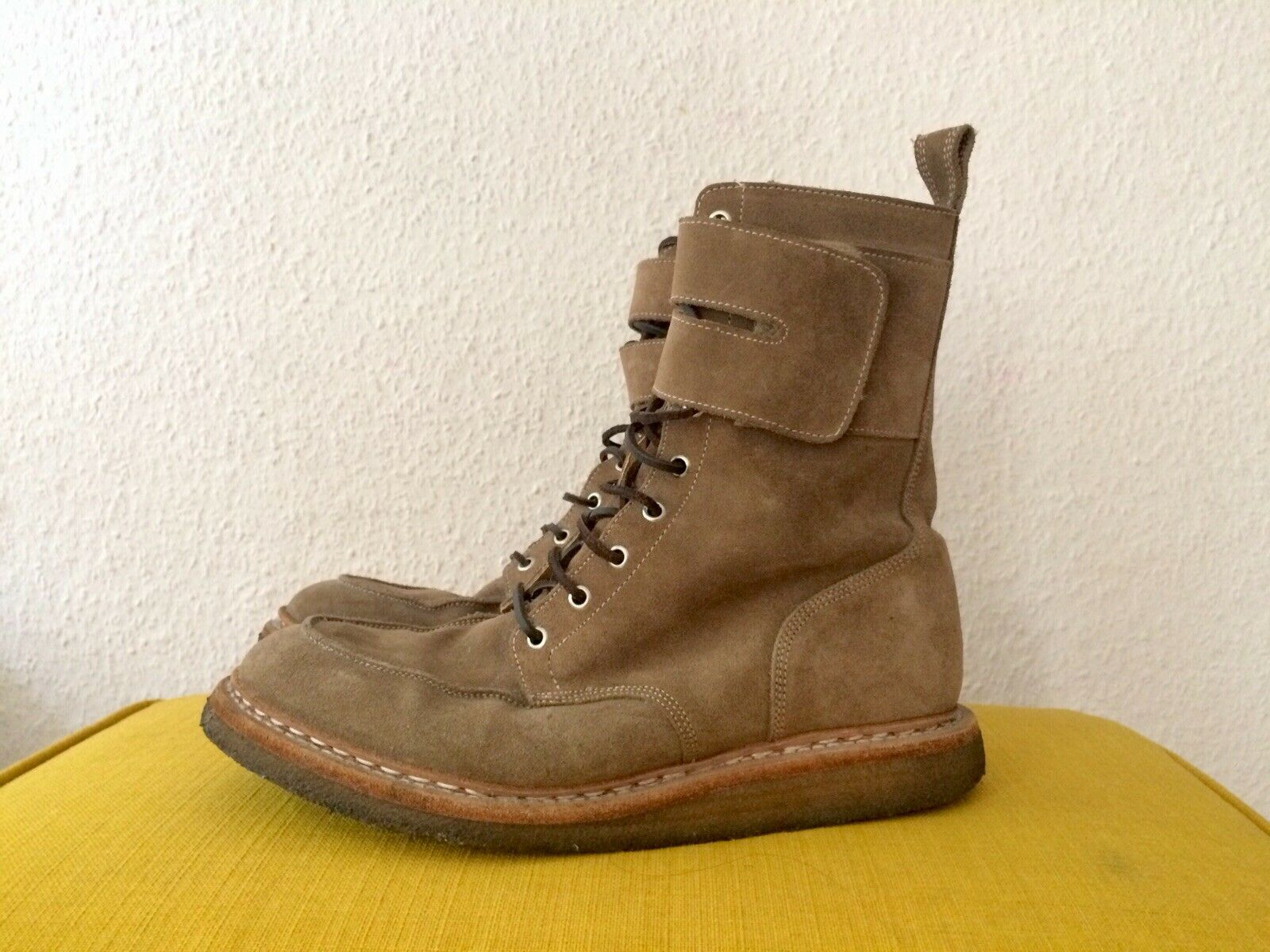 Balmain Luxus Leder-Stiefel Stiefel, Made in France, Gr. 45