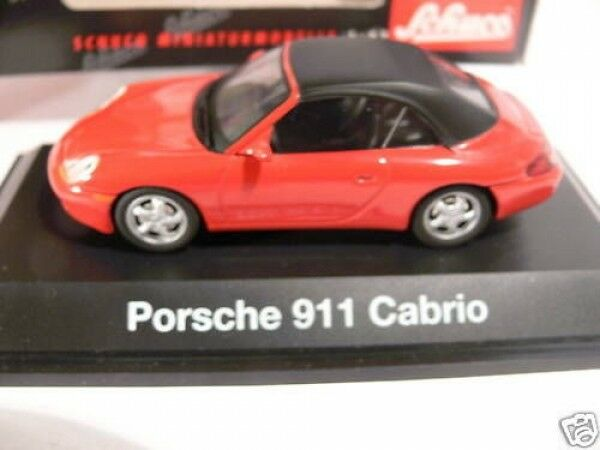 1 43 Schuco Porsche 911 911 911 Cabrio Softtop red 04461 341765