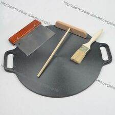 14.6 Inch Cast Iron Crepe Pancake Pan Kitchen Cookware