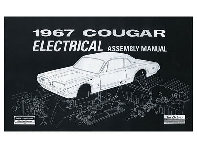 New 1967 Cougar Electrical Assembly Manual Wiring Diagrams ...