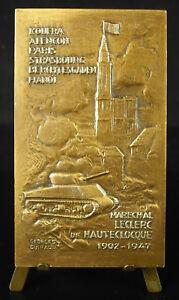 Medaglia-Marshal-Leclerc-Hauteclocque-Char-Tank-Kufra-Hanoi-Apr-Jonchere-Medal