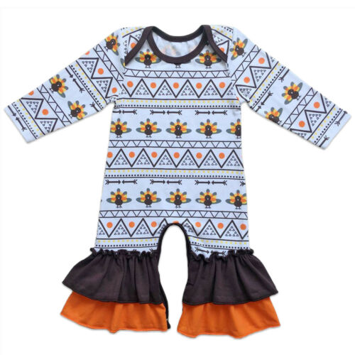 Icing Ruffle Jumpsuit Pants for Baby Toddler Girls Christmas Long Sleeve Pajamas