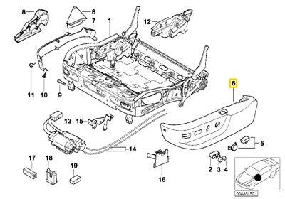 Genuine BMW E38 E39 Sedan Wagon Switch Covering Set OEM 52107058008