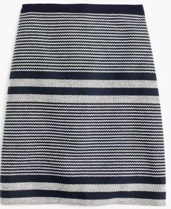 NWT JCREW Tall A-line skirt in striped navy tweed Sz12T G3224  SP17 SOLDOUT