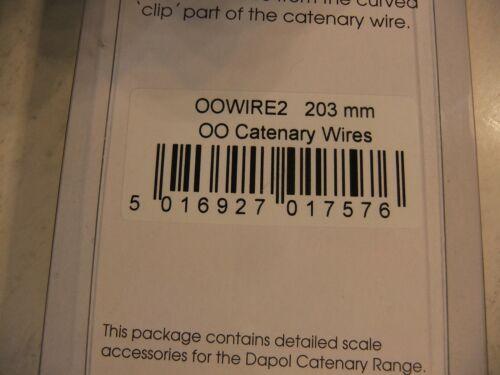 oo gauge Dapol OOWIRE2-203mm oo gauge Catenary Wires NEW Pack of 10