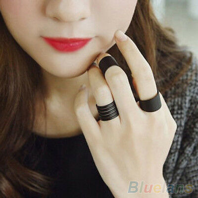 3Pcs Womens Punk Plain Style Above Knuckle Ring Band Midi Finger Rings Ring Set