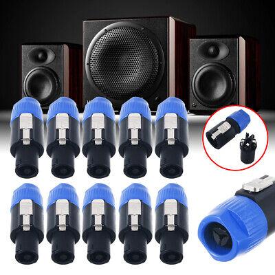 10 pcs 4 Pole Pin Locking Speakon Round Chassis Mount Speaker Pro Audio X-1092