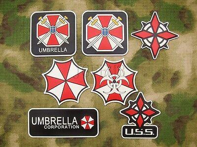 Luminous Resident Evil Umbrella Corporation U.S.S UBCS 3D PVC Patch