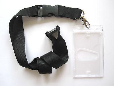 1 X Schlüsselband Mit Ausweishülle Schwarz Ec Kartenhalter Lanyard Ausweishalter Diversifiziert In Der Verpackung