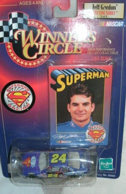 #24 JEFF GORDON DUPONT SUPERMAN CAR WINNERS CIRCLE 1/64 1999LIFETIME SERIES 5OF8