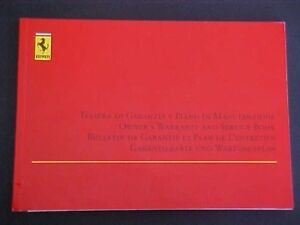 Ferrari 456 owners manual warranty card service book 456 gt oem ebay image is loading ferrari 456 owners manual warranty card service book publicscrutiny Image collections