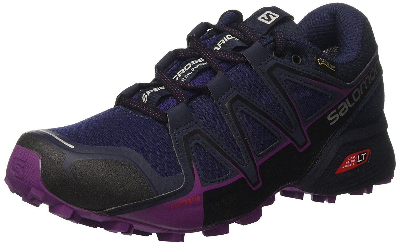 Salomon mujer Running speedcross Vario 2 GTX Trail Running mujer Zapatos, Púrpura, 3 ba0b65