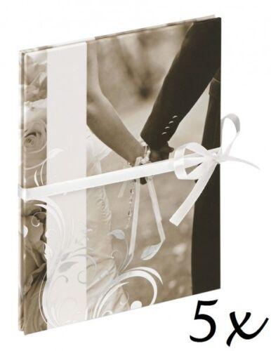 5 x Walther Leoprello 12 Fotos 10x15 Hochzeitsalbum Einsteckalbum Hochzeit Album