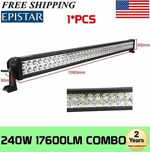 "42""in 240W LED Work Light Bar Combo Offroad Bumper Roof Bull Truck Boat 40"" 44"""