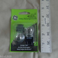 Two (2) Ge 4157ll Miniature Lamp Bulb S8 2w 12 Volt 12v Free Shipping