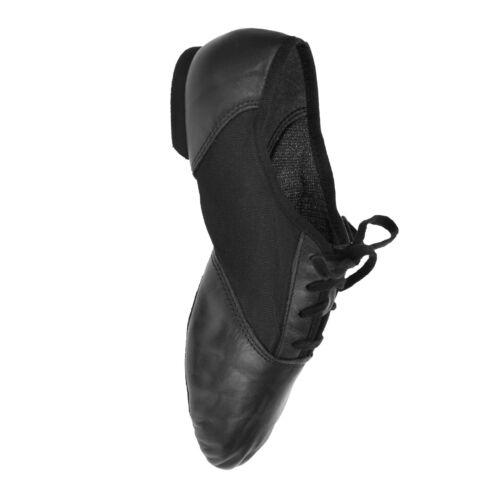 Capezio 458 Jazz Shoes Split Sole Leather//Mesh