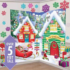 image is loading santa 039 s workshop scene setter christmas party