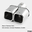 Universal-2-4-034-Stainless-Steel-Twin-Double-Dual-Chorme-Straight-Pipe-Exhaust-Tip thumbnail 2