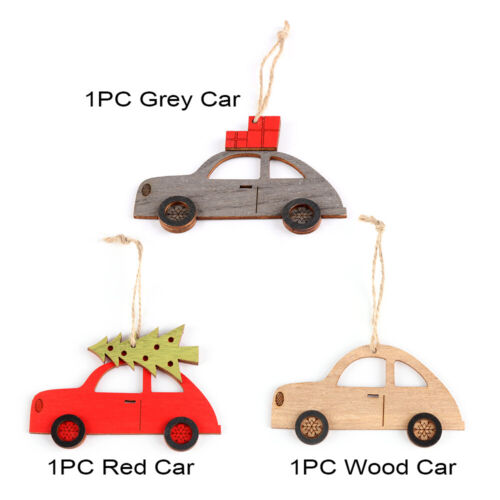 Crafts Home Decoration Christmas Ornament Xmas Tree Painted Car Hanging Pendant