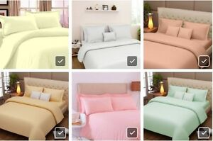 Dream Decor Pure Cotton Solid Color Bed Sheet