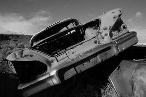 189160-1958-Chevrolet-Impala-Desert-Derelict-Print-Poster-Affiche