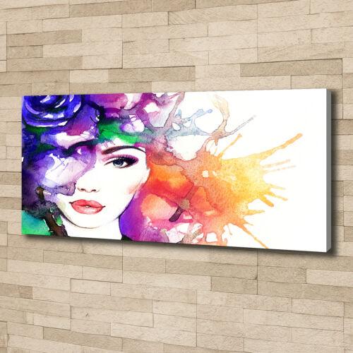 Leinwandbild Kunst-Druck 125x50 Bilder Kunst Portrait einer Frau