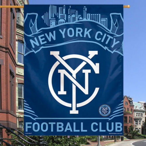NYC FOOTBALL CLUB 27X37 FLAG//BANNER NEW /& OFFICIALLY LICENSED