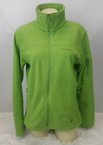 uskomaton valinta verkossa täällä myydyin tuote Details about Columbia Fleece Jacket Women Size M Full Zip Sleeve Pocket  Lime Green
