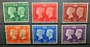FRANCOBOLLI-GRAN-BRETAGNA-1940-REGINA-VITTORIA-amp-GIORGIO-VI-SERIE-USED-SET-C-B
