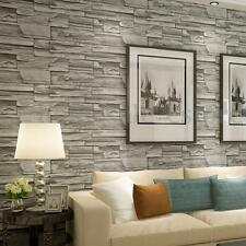 10M PVC Roll Blocks Brick Stone Vinyl Background 3D Wallpaper Cover Living Room