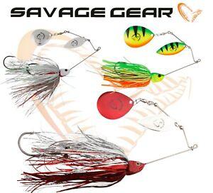 Savage-Gear-Spinnerbait-Da-039-BUSH-Lure-Fishing-Predator-Double-Blade-Bait-Pike