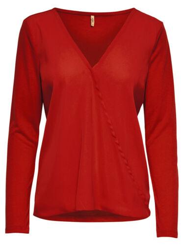 Only Donna Blusa maglione manica lunga onlpalma L//S scollo a V classico elegante