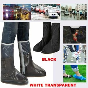 842ae597a97 Details about Waterproof Rain Thicken High-top Non-slip Cycling Shoes Boots  Cover W/Zipper NEW