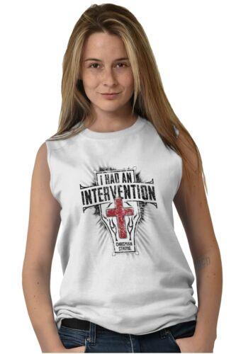 I Had An Intervention Jesus Religious Gift Sleeveless T Shirts Tees Tshirts