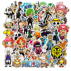 50Pcs-Anime-One-Piece-Pegatinas-Pack-Vinilo-Laptop-Equipaje-de-telefono-Casco-Calcomania-Bomb