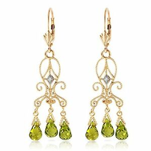 4-50-CTW-14k-Solid-Gold-Natural-Diamond-and-Peridot-Chandelier-Drop-Earrings