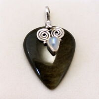 Silver Obsidian With Moonstone Pendant In 925 Silber Gemstone,silver Jewellery