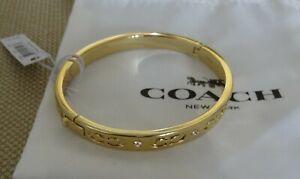 COACH-Gold-bangle-Bracelet-Signature-Kissing