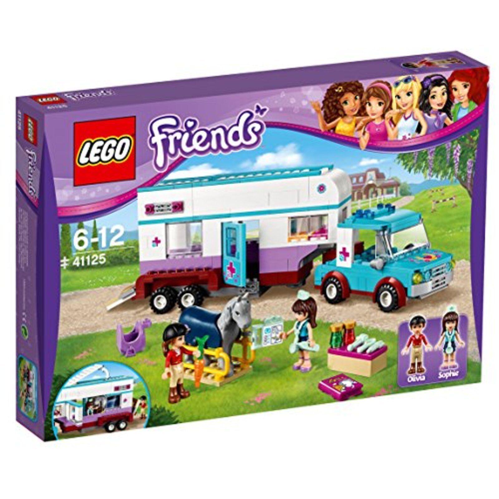 Lego Amici Veterinarian's Trailer Clinica 41125 F/S W/Tracciamento Testa # New