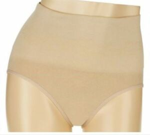 New Carol Wior Microfiber Belly Band Shapewear Brief Panty Qty 2 Floral//Blue L