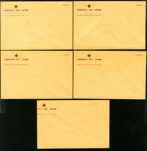 US-American-Red-Cross-Lot-of-5-Clean-Early-Mint-Stationery-539