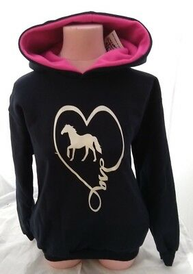 Amichevole Equitazione/cavallo/felpa Con Cappuccio/heart Breaker Cavallo-mostra Il Titolo Originale Delizie Amate Da Tutti