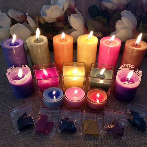 48g Kerze Farbstoff Wachsfarbe zum Kerzenwachs einfärben Kerzenfarbstoff Chips