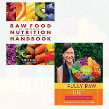 Fully Raw Diet and Raw Food Nutrition Handbook 2 Books Collection Set Pack NEW
