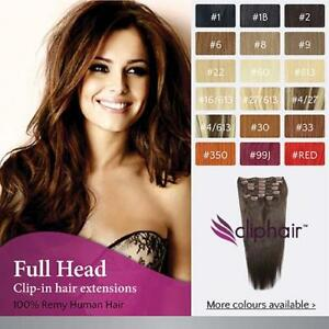 Finest Quality Full Head Remy Clip In Human Hair Extensions. Real Hair Extension