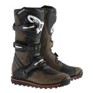 Alpinestars Adults Tech T Trials Motor Bike Motorcycle Boots - Brown Oiled