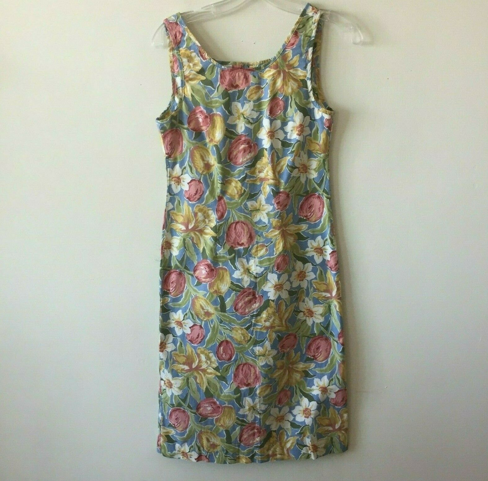 Laura Ashley Sleeveless Sheath Dress Sundress Stretch Floral Women's 6