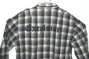 Calvin-Klein-Dress-Shirt-Large-Mens-L-Designer-Button-Up-Formal-Business-Top