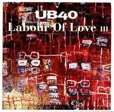 UB40 20 x 20 cm italian promo order flyer LABOUR OF LOVE III 1998 double side