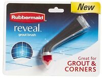 new rubbermaid 1839688 reveal power scrubber pointed grout head